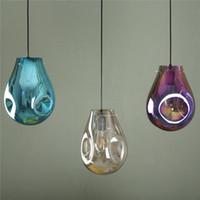 Nordic LED подвеска свет Цвет стекла висячие лампы Loft Подвеска лампы Kitchen Подвеска светильник Lava Подвесные лампы