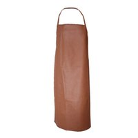 Waterproof Apron - PU Bib Apron - Kitchen PU Leather Brown