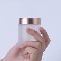 Buzlu temizleyin 5g 10g 15g 30g 50g 60g 100g Cam Krem Şişeler Göz Kremi Pot Kozmetik Krem Kavanozlar ile Rose Gold Cap