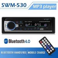 إدارة النفايات الصلبة-530 راديو السيارة ستيريو بلوتوث Autoradio 1DIN 12V سيارة الصوت الوسائط المتعددة بلوتوث 4.0 سيارة مشغل موسيقى MP3 FM راديو المزدوج USB AUX