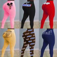 Diseñador 2021 Mujeres Sexy Pantalones ajustados Patrón Impreso Yoga Casual Impresión digital Slim Fit Sports High Cinte Leggings