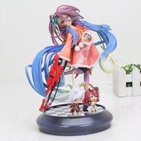 10 Arten Anime Kein Spiel No Life 2 Shiro Game of Life Gemalt zweiten Generation Game of Life 1/7 Skala PVC Action-Figur Modell T200824