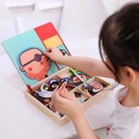 3D Puzzle Aprendizaje Tablero Magnético Dibujos animados Creativo Regalos Juguetes Cognitivos Figura Inteligencia Animales Baby DIY Infantil Puzzle de madera Vehic Owqi Owqi