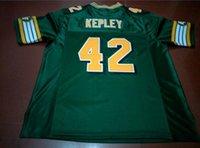 Benutzerdefinierte Männer Jugend Frauen Weinlese Edmonton Eskimos # 42 Dan Kepley Fußball-Jersey-Größe s-6XL oder benutzerdefinierten beliebigen Namen oder Nummer Jersey