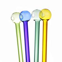 DAB plataforma de 120 mm Pyrex aceite Glass Quemador pipe colorido agua de espesor de vidrio pyrex tubos de quemador de aceite del tubo de cristal Pipe