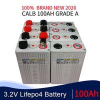 32pcs CALB 3,2V EV tekne güneş RV AB ABD VERGİ FRE için 100Ah LiFePO4 batarya 12v 24V 48V Lityum demir fosfat hücreli piller CA100