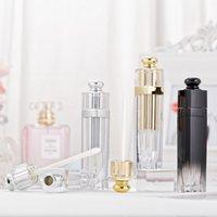 5ml Chiaro Vuoto Lip Gloss Tubi sfumature di colore imballaggi in plastica Bottiglia Lipgloss contenitori del coperchio a vite d'oro Strumento Cosmetic Silver 2 2xma B2