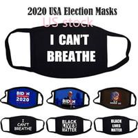 Stock US Lives Noir Masques Matière unisexe homme anti-poussière Designer Masques 2020 USA Election Styliste Biden Party Masques