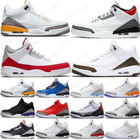 hot 2020 Mens Jumpman 3 Basketballschuhe 3s Michigan UNC Blau Georgetown OG Black Cement Weiß AJ3 Tinker NRG j3 Retro-Turnschuhe Stiefel mit