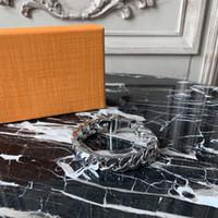 الأزياء سوار الماس وصول جديد للجنسين 316L التيتانيوم الصلب محفور الملونة سوار 18K مطلية بالذهب سميكة سلسلة أساور