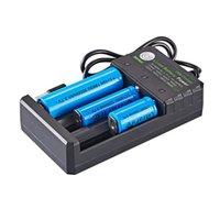 Multifonction 18650 USB Chargeur USB 3 Slot Li-Ion Power Power pour 3.7V 26650 10440 16340 16650 18350 18500 Batterie au lithium rechargeable Nouveau