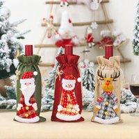 Weihnachtswein-Abdeckung Taschen Netter Schneemann Weihnachtsmann Elk Getränk-Flaschen-Beutel Neujahr Abendessen nette Dekoration