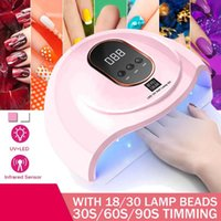 120W UV LED Nail Lamp Manicure 80W Nail Dryer For All Gel Polish Ice Lamp With LCD Display For Professional Art Tool