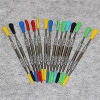 120 мм Wax Dabber Tool Серебряный цвет Нержавеющая сталь Инструменты DAB с силиконовым наконечником для ручкового испарителя кремниевые нектарные коллекторы Наборы