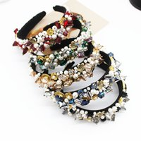 CN Baroque Rhinestone Pearl Headbands Elegant Ladies Crystal...