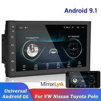 7 بوصة عالمي سيارة GPS نظام الملاحة أندرويد MP5 سيارة دي في دي لاعب بلوتوث 2.5D شاشة أندرويد 9.1 نظام التشغيل دعم مرآة الرابط