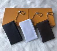 Les prix de gros 4 couleurs SACHET cuir KEY Damier détient porte-monnaie porte-clés mode de haute qualité des femmes classiques en cuir petit portefeuilles clés