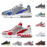 Stussy x   Zoom llegadas de los zapatos corrientes de arena blanca puro pista roja, mujeres, hombres zapato Chaussures deportes al aire libre las zapatillas de deporte
