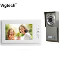 Teléfonos de video de las puertas 7 '' Color Intercom Desbloquear el timbre del sistema de teléfono con 1/2 / 3monitors Visual para las claves de múltiples apartamentos