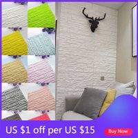 DIY Self Adhesive 3D Wall Stickers Foam Panels Waterproof Covering Wallpaper Home Living Room Decor TV Background Decoration Kid