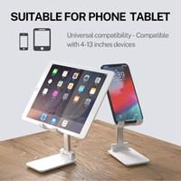 Hot Sale Folding Desk Telefon Stativhållare för iPhone iPad Universal Portable Foldbar Extend Metal Desktop Tablet Bordsstativ