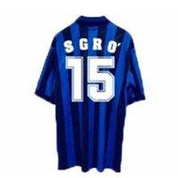 Atalanta retro 1996-1997 de Futebol Inzaghi Futebol Camiseta Lentini clássico Futbol Vintage Shirt Kit Maillot Maglia