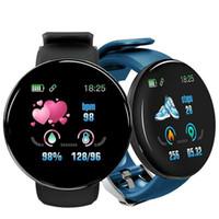 D18 الذكية ووتش الرجال معدل ضربات القلب / ضغط الدم / مراقبة الأكسجين في الدم سوار الذكية معصمه اللياقة تعقب للماء