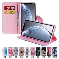 Кошелек для телефона для iPhone 12 Mini 11 Pro X XR XS MAX 7 8 плюс Samsung Galaxy Note20 Ультра красочные окрашенные ткани текстуры Flip подставка