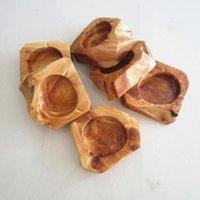 Holz-Rund Ash Halter Rauch Zigarette Aschenbecher Braun Taschenascher Auto-Aschenbecher aus Holz Aschenbecher Raucherzubehör CCA12409 120pcs