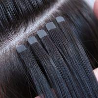 Nouveau produit 6 Bouche de fleurs Ruban invisible Remy Extensions de cheveux Remy Cuticle Aligné DIY Skin EXTRICATION DE CHEVEUX DE TERRAIN 100G / 40PIÈGE Nouvelle mise à niveau