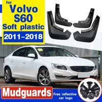 Mudflap carro para Volvo S60 2011 ~ 2018 Fender Mud Guarda Flap respingo Flaps-lamas Acessórios 2012 2013 2014 2015 2016 2017 2