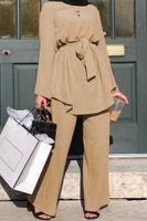 Ид Мубарак Дубай Абай Турция мусульманского мода хиджаб платье наборы Ислам Одежда Abayas для женщин Musulman ансамблей De Mode Кафтан