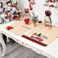 46 * 34cm Chirstmas Mantelito Mantel flor roja del coche Impreso Mantel cena de Chirstmas decoraciones para la cocina casera manteles individuales LJJP411
