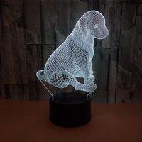 أضواء مخصصة Visual الغلاف الجوي مصباح 3D الملونة يلة اللمس 3D جرو أدى أضواء الجدول مصباح صغير هدايا عيد الميلاد