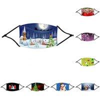 Kid Weihnachten Festliche Partei-Schablonen Weihnachten Designer-Gesichtsmasken Antistaub-Schneeflocke-Weihnachtsmundschutz Waschbar Wiederverwendbare mit Filter FY4229