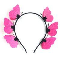 Acessórios de cabelo doce borboleta borboleta boho fascinators headpiece festival partido po coroa 449f