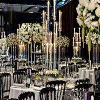 Акриловый подсвечник 8 головок руки подсвечники свадебные канделябры столовые центрики цветочные стойки держатель канделябрума украшения