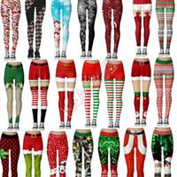 Fashion Women's Leggings Stretch tight Pants Sports Yoga Jogging Long Trousers pencil Pant Christmas Santa Playsuit Boutique Clothing D9104