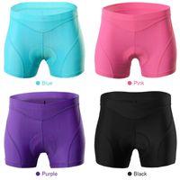 Ciclismo Shorts Mulheres à prova de choque Mountain Bike Shorts underwear confortável Gel 3D acolchoado ciclismo da bicicleta Biking