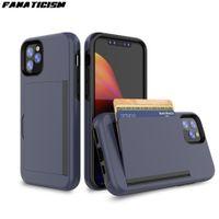 ID carte de crédit Porte-monnaie Emplacement pour l'iphone 11 pro Max iphone11 11Pro antichocs PC + TPU Hybrid Support Flip Cover