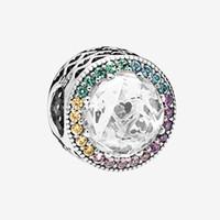 Braccialetto frizzante del braccialetto della catena del braccialetto colorato del fascino scintillante con la scatola originale per il fascino in argento sterling in argento Pandora 925