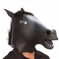 Cosplay Halloween Tête de cheval Masque Fêtard Costume Prop Jouets roman plein visage tête Masques avec Sea Shipping CCA12442 50pcs