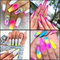 Kein schlechter Geruch Box Neon Pigment Nagel-Puder-Staub Ombre Nagel-Funkeln-Gradient Glitter Iridescent Acryl Puder-Nagel-Kunst-Dekoration