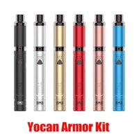 Authentische Yocan Rüstungsset Wax Pen 380mAh vorheizen Batterie Variable Voltage Konzentrat Vaporizer Starter Kit mit QDC Spulenkopf 100% echten
