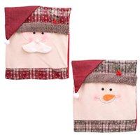 Decorações de Natal 2 PCS por Set 51 * 48 cm Cadeira Cobre Removível Santa Snowman Chentmas Festas Bar Decoração