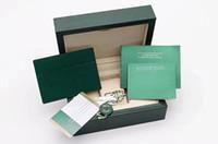 Rolox 박스 책자 시계 무료 원래 매칭 논문 보안 카드 선물 가방 최고 녹색 나무 시계 상자 사용자 지정 카드 시계 케이스 인쇄하기