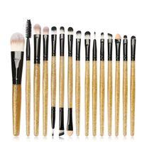 15Pcs Fashion Shining Handle Makeup Brushes Set Eyes Face Foundation Brush Powder Blush Make Up Brush pinceaux maquillage L9