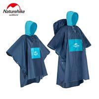 NatureHike outdoor multifunction Rain Poncho Foldable Reusable Hiking Hooded Rain Coat Waterproof Jacket for Outdoor Activities