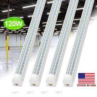 V Shaped Integrated LED Tubes Light 4ft 8ft LED Tube T8 72W 100W 120W 150W Double Sides Bulbs Shop Light Cooler Door Light