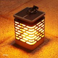 야외 정원 잔디 빛 복도 램프 플라스틱 LED 램프의 불꽃 조명 BH2752 DBC 매달려 LED 방수 태양 램프 태양 전원 조명